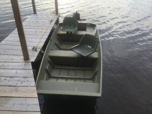 Princecraft PR1236 Jon boat with Mercury fourstroke outboard