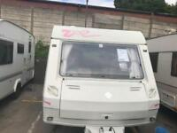 Abi Globetrotter Evissa 4 Berth Caravan Fixed Bed End Kitchen Full Awning Inc