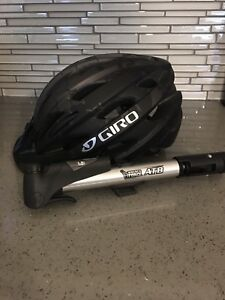 Giro Adult Helmet and Mounting Pump