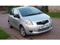 57 PLATE TOYOTA YARIS 1.0 PETROL ONLY 54K GUARENTEED MILAGE, LADY OWNER, 6 MONTHS MOT,