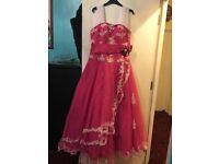 Pink puffy cinderella dress