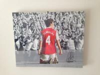 Signed football canvas