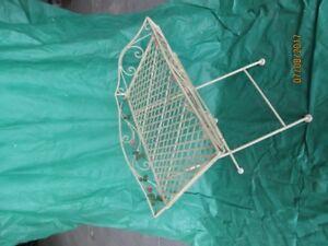 Table pliante en métal pour terrasse
