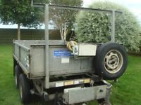 Ivor Williams TT85G REDUCED trailer, Electric/Hydraulic 3500kg,New deck,brakes recently overhauled.