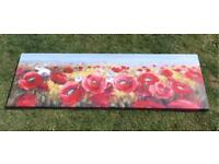 Red Blue Yellow Green Landscape Poppy Canvas Painting Picture Beautiful