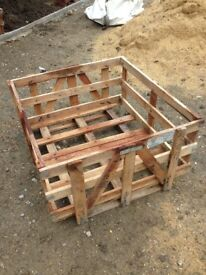 Free pallets and timber crates