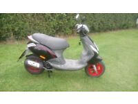 PIAGGIO ZIP 4 STROKE MOPED 50 CC (BLACK/RED)