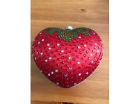 Strawberry clutch bag never used