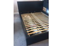 King size IKEA bed frame - MALM Black-brown/luröy