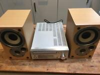 Denon mini Hi-fi with DAB seperates. Mission speakers.