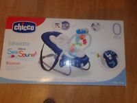 Chicco bouncer Sdraietta chair with MP3 connection.