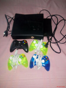 XBox 360 4GB w/ 4 controllers for sale