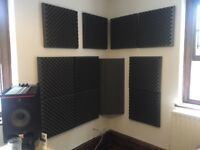 27 High Grade Dense 500x500x75mm Acoustic Tiles and 4 @ 3ft Bass Traps £150 worth £500