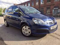 06 Vauxhall Zafira 1.6 - one year mot - 7 seater - cambelt done recently -clean car