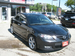 2009 MAZDA3 GT  4 Cyl Automatic Leather Sunroof $ 6995