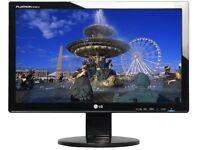 LG W1941S-PF 19-inch TFT Monitor, 1366x768, 300cd/m2, 8000:1 (Dynamic), 16:9, VGA, Black