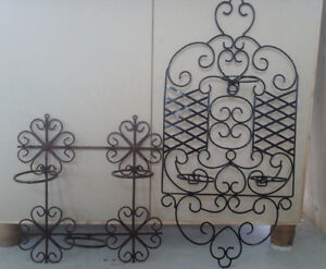 Wrought Iron Wall Plant Pot Holders