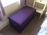 Purple ottoman/blanket box