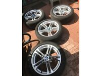 BMW 520D M Sports original alloy wheel 18 inch with run flat tyre ;