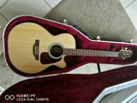 Takemine gn71 electro acoustic guitar with Hiscox liteflite pro 2 case.