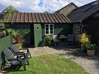 Gorgeous little converted barn to let for 5 months. £595 per month. 50 metres from the seafront