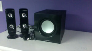 Coby CSMP77 PC speakers & subwoofer