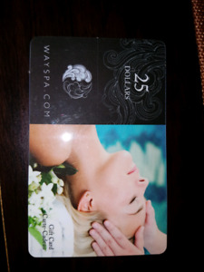 Way Spa giftcard $25 for 20