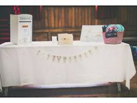 White wedding post box - table decoration - gift box