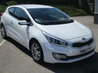 2015 Kia ceed 1.4 VR7 3dr Petrol white Manual