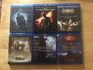 Multiple BluRay/Dvd combo & Individual BluRay movies for sale