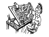 Cartoons and Comics at the Folk House