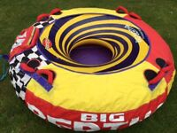 Big bertha inflatable water toy doughnut ring for jet ski or boat fun watersports
