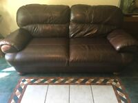 3 seater quality leather sofa
