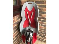 Padded detachable bike seat rear for children up to 22kg