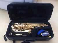 Pre-owned Jupiter 500 Series Alto Saxophone and case, serviced and in excellent condition.