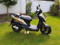 Kymco agilty 50. Quick + v reliable. Fantastic condition. New mot + tyres + exhaust. £495 bargain.