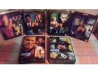Seasons 1-6 dvds of 24