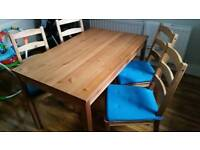Small table and 4 chairs