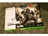 xbox one S 1TB white Gears of war 4 bundle NEW SEALED