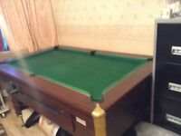 SUPERLEAGUE POOL TABLE COIN OPERATED
