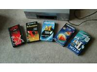 JVC Video Tape Player and 5 video tapes £10