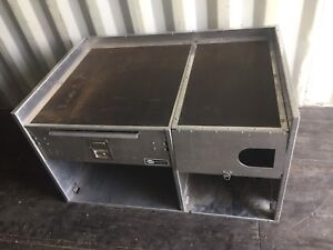 Aluminum cabinet with drawer