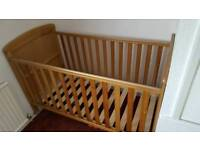 Cot and bed from birth to 5 years old.