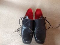 Mens Black with Yellow trim Fly of London Shoes