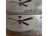 Pair of ceiling fans with lights