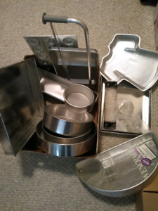 Variety of professional cake pans