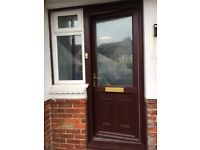 Front door and 2 side window panels in very good condition
