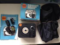 Bulk film loader , dark room changing bag and 4 cassettes