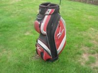 MIZUNO golf trolly bag 6pockets 14 lined club holders,rain cover,all good quality and condition