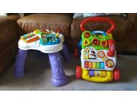 V tech baby walker and tv activity table